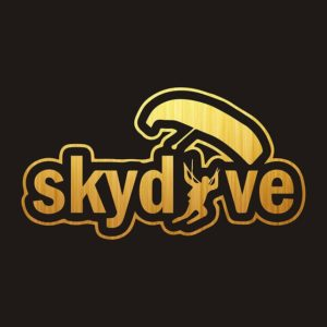 Skydive' Silhouette Vinyl Car Stickers